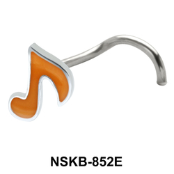 Musical Notation Shaped Silver Nose Stud NSK-852E