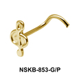 Musical Notation Shaped Silver Nose Stud NSK-853