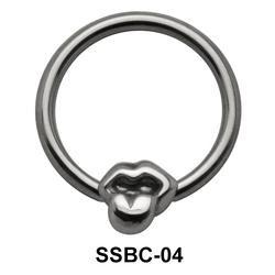 Hanging Tongue Closure Rings Mini Attachments SSBC-04