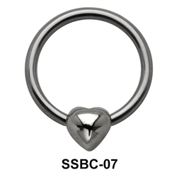 Shiny Heart Closure Rings Mini Attachments SSBC-07