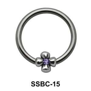 Stone Set Flower Closure Rings Mini Attachments SSBC-15
