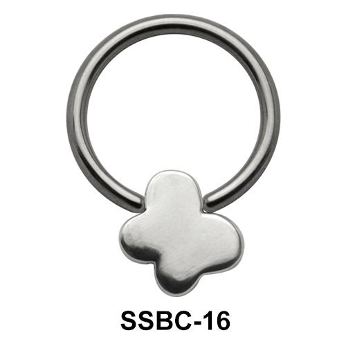 Shiny Butterfly Closure Rings Mini Attachments SSBC-16