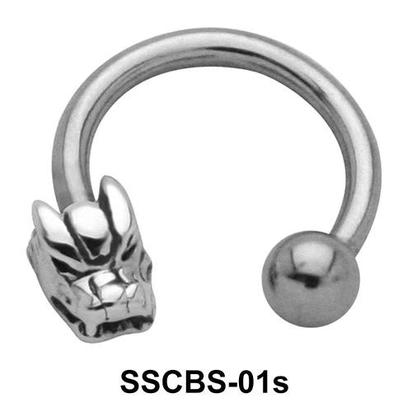 Dragon Faced Circular Barbells SSCBS-01s