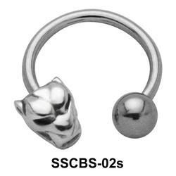 Devil Face Circular Barbells SSCBS-02s