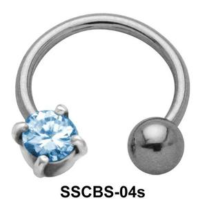 Round CZ Circular Barbells SSCBS-04s