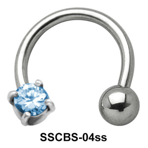 Round Small CZ Circular Barbells SSCBS-04ss