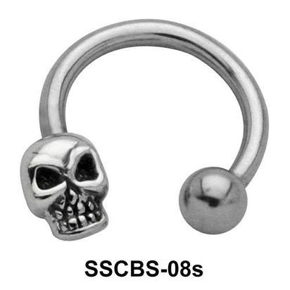 Skull Shaped Circular Barbells SSCBS-08s