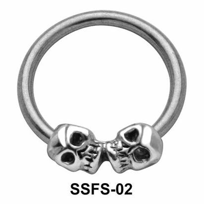 Dual Skull Face Closure Ring SSFS-02