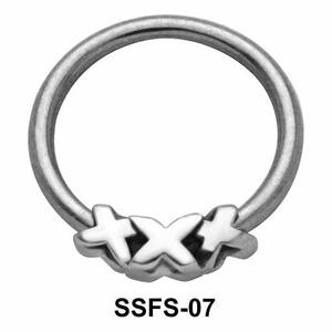 Triple X Face Closure Ring SSFS-07