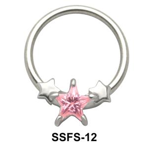 Stars Nipple Piercing Closure Ring SSFS-12