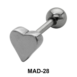 Heart S316L Tongue Piercing MAD-28