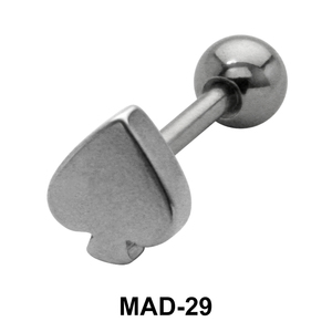 Spade S316L Tongue Piercing MAD-29