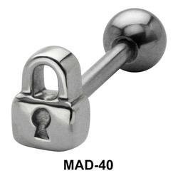 Lock S316L Tongue Piercing MAD-40