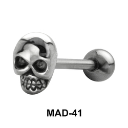 Skull Shaped S316L Tongue Piercing MAD-41
