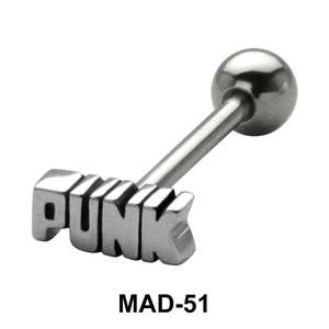 PUNK S316L Tongue Piercing MAD-51