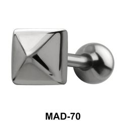 Pyramid S316L Tongue Piercing MAD-70