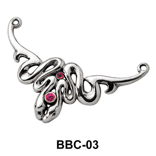 Twin Snake Back Belly Chain BBC-03