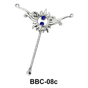 Sun Shaped Back Belly Chain BBC-08c
