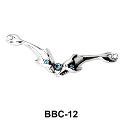 Dual Dolphins Back Belly Chain BBC-12
