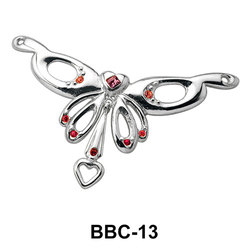 Jewelled Butterfly Back Belly Chain BBC-13