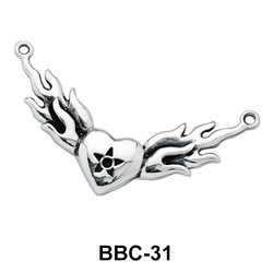 Fiery Heart Back Belly Chain BBC-31