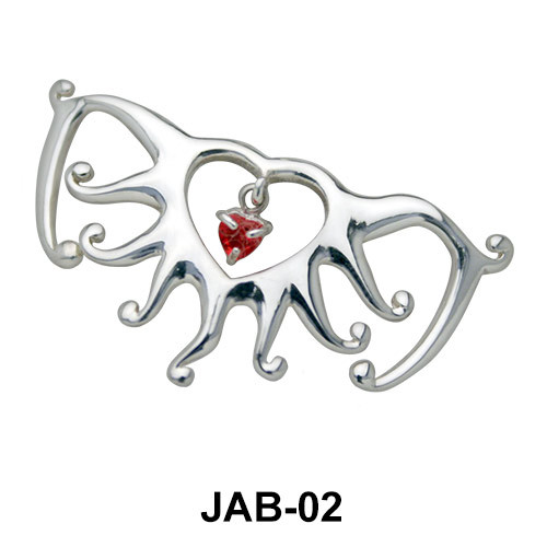 Sunrays Heart Jeweled Arm Band JAB-02