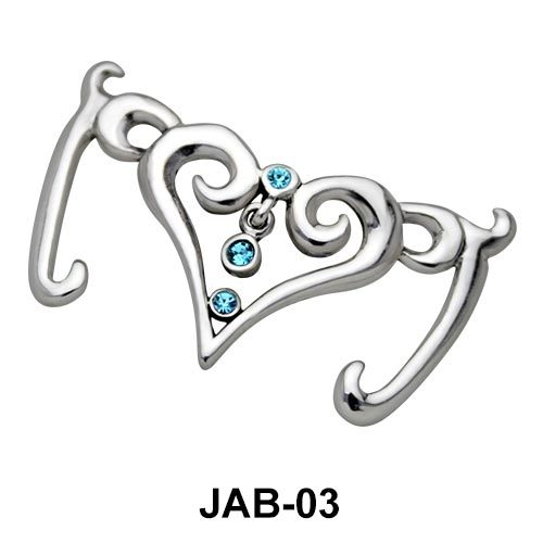 Stone Studded Heart Jeweled Arm band JAB-03