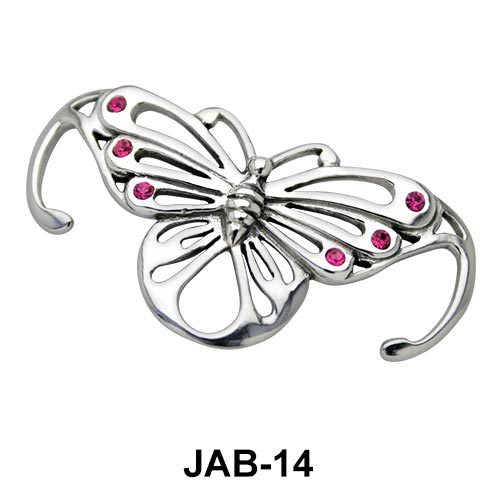 Stone Set Butterfly Jeweled Arm Band JAB-14