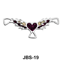 Wing With Heart Jeweled G-String JBS-19