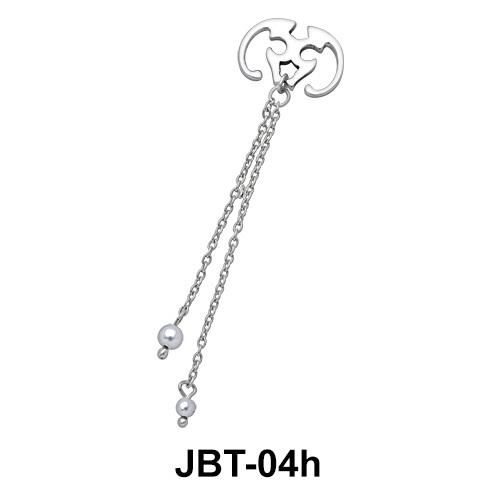 Chained Jewelled Bikini Top JBT-04h