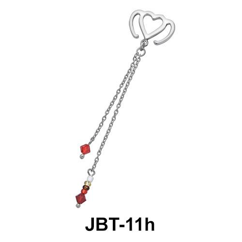 Heart Jewelled Bikini Top JBT-11h