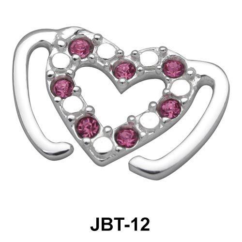 Heart Jewelled Bikini Top JBT-12