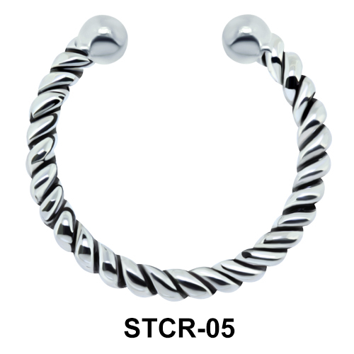 Twisted Septum Clip Ring STCR-05