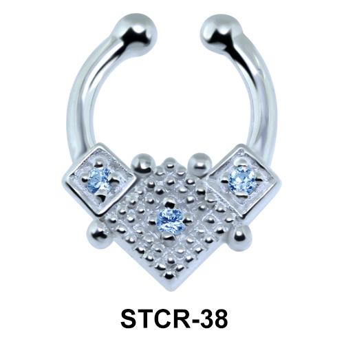 Vintage Design Septum Clip Ring STCR-38