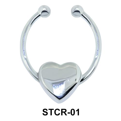 Heart Shape Septum Clip Ring STCR-01