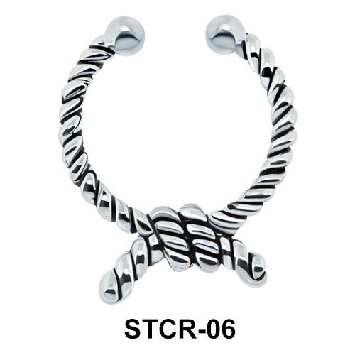 Ring Rope Shape Septum Clip Ring STCR-06
