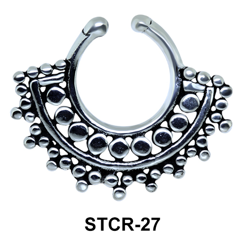 Indian Shape Septum Clip Ring STCR-27