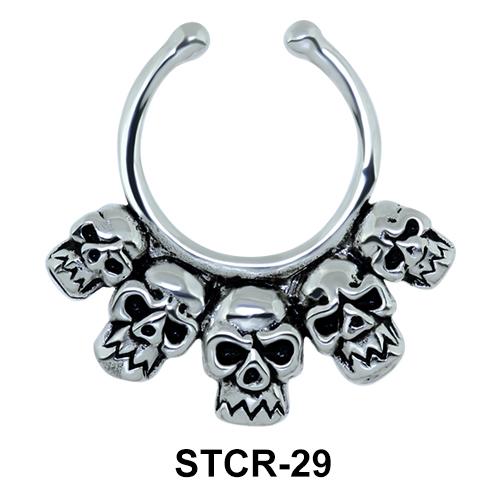 Skull Shape Septum Clip Ring STCR-29
