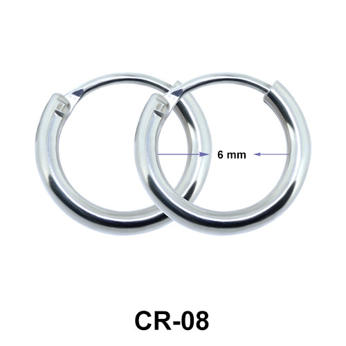Round Hoop Earrings CR-08