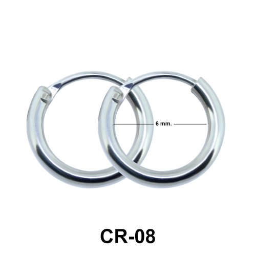 Round Hoop Earrings CR-08 (1.2x6)