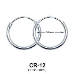 Silver Hoop Earring CR-12 (1.3x10)