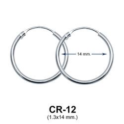 Silver Hoop Earring CR-12 (1.3x14)
