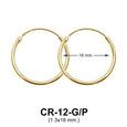 Silver Hoop Earring CR-12 (1.3x16)