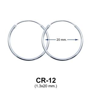 Silver Hoop Earring CR-12 (1.3x20)