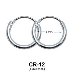 Silver Hoop Earring CR-12 (1.3x8)