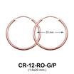 Silver Hoop Earring CR-12 (1.6x20)
