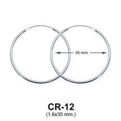 Silver Hoop Earring CR-12 (1.6x35)