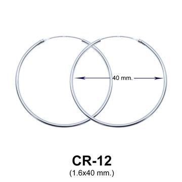 Silver Hoop Earring CR-12 (1.6x40)