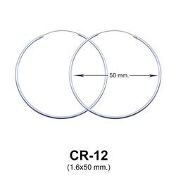 Silver Hoop Earring CR-12 (1.6x50)