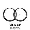 Silver Hoop Earring CR-12 (1.2x9)